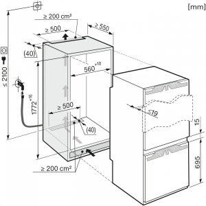 Холодильно-морозильная комбинация KFN37692 iDE