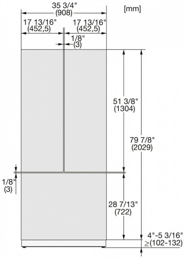 Фронтальная панель KFP 3635 ed/cs