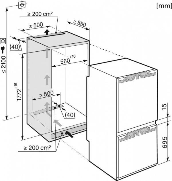Холодильно-морозильная комбинация KFN37682iD
