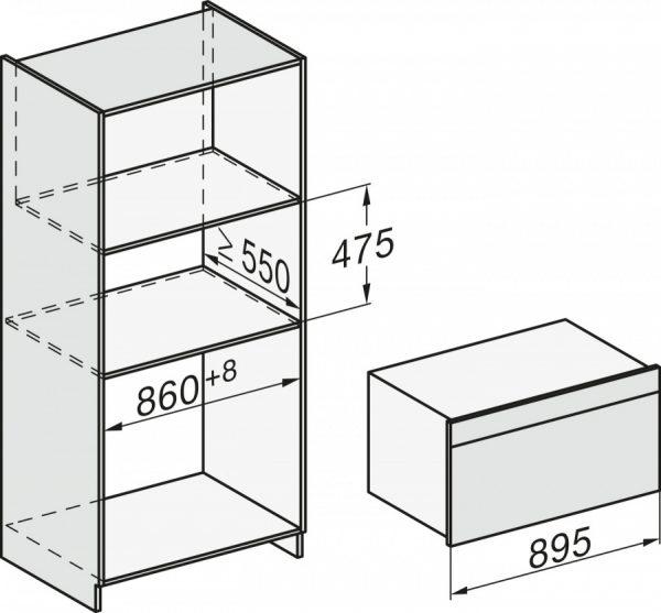 Духовой шкаф H7890BP EDST/CLST сталь CleanSteel