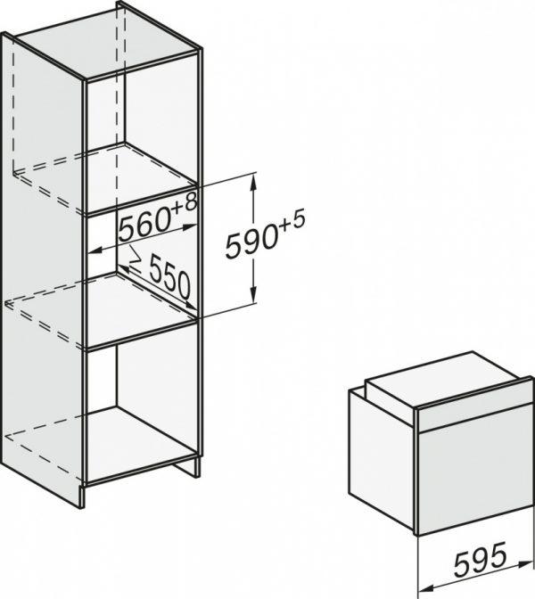 Духовой шкаф H7264B EDST/CLST сталь CleanSteel