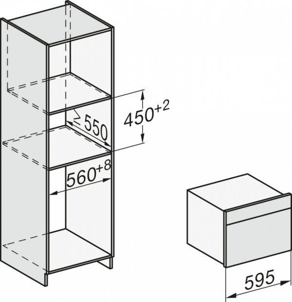Духовой шкаф с СВЧ H7840BM BRWS бриллиантовый белый