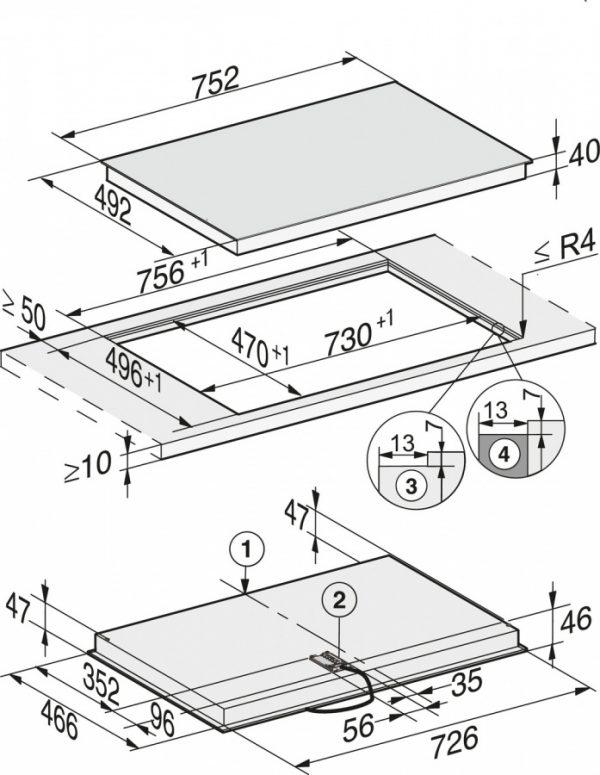 Панель конфорок KM6542 FR сталь