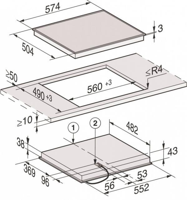Панель конфорок KM6520 FR сталь