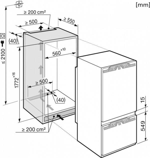Холодильно-морозильная комбинация KF37673iD