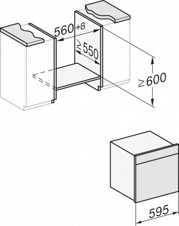 Комбинированный духовой шкаф DialogOven DO7860 OBSW чёрный обсидиан