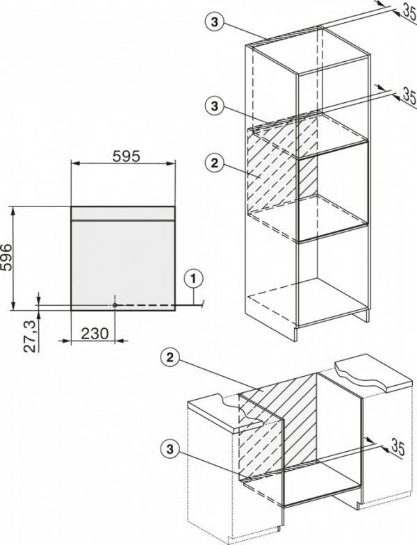Комбинированный духовой шкаф DialogOven DO7860 нерж. сталь
