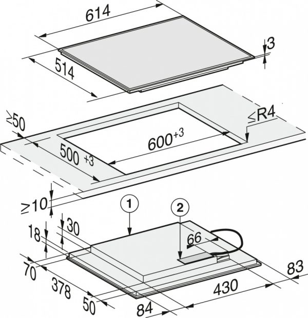 Панель конфорок KM7262 FR