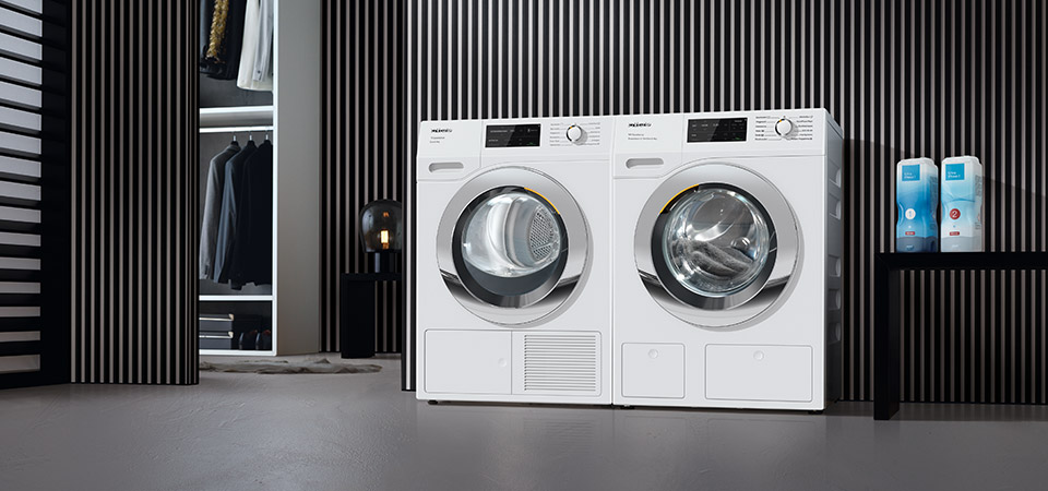 С 1 апреля по 30 июня 2021 года при покупке комплекта состоящего из стиральной и сушильной машины – выгода составит 7% на комплект.